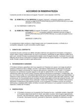 Accordo di riservatezza per consulenti, collaboratori