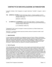 Contratto di non divulgazione autore-editore