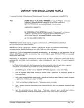Contratto di dissoluzione di filiale