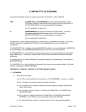 Contratto di fusione (100% sussidiario)