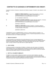 Contratto di garanzia e differimento dei crediti