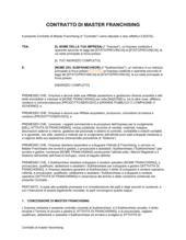 Contratto di master franchising