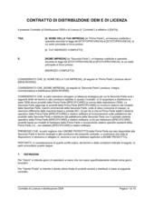 Distribuzione oem e contratto di licenza