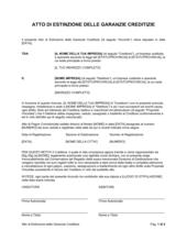 Atto di estinzione delle garanzie creditizie