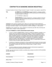 Contratto di cessione di disegno industriale