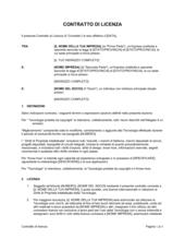 Contratto di licenza breve