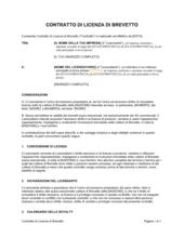 Contratto di licenza di brevetto