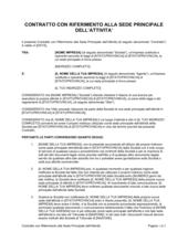 Contratto con riferimento alla sede principale dell'attività