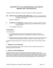 Contratto di collaborazione con agente immobiliare indipendente