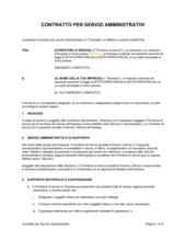 Contratto per servizi amministrativi 1