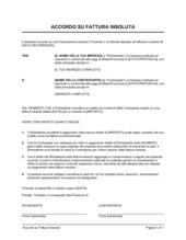 Accordo di compromesso su fattura insoluta
