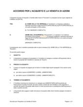 Accordo di acquisto e vendita di azioni