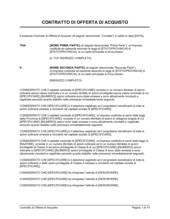 Contratto di offerta acquisto di azioni