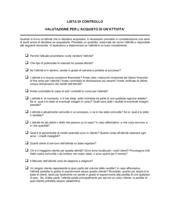 Lista di controllo valutazione per l'acquisto di un'attività