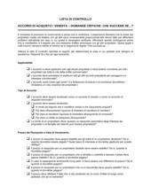 Lista di controllo vendita di un'attività_domande che succede se