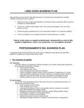 Linee guida business plan