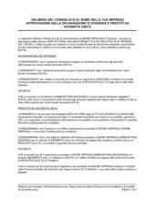 Delibera consiglio approvazione dichiarazione dei dividendi e prestiti