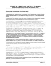 Delibera consiglio approvazione dichiarazione dividendi finali