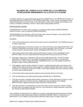Delibera consiglio approvazione fusione