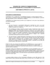 Delibera consiglio approvazione scioglimento controllata