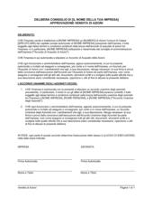 Delibera consiglio approvazione vendita azioni