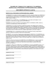 Delibera consiglio modifica procedura controllo assegni