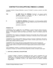 Contratto di sviluppo multimedia e licenza