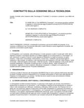 Contratto sulla cessione della tecnologia