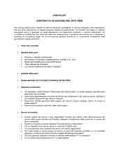 Checklist Contratto di hosting del sito web