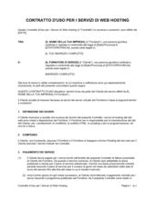 Contratto d'uso per i servizi di web hosting