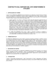 Contratto sul servizio del sito web termini di utilizzo