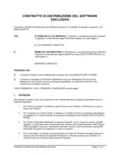 Contratto di distribuzione del software esclusivo