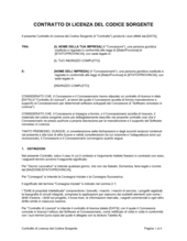 Contratto di licenza del codice sorgente