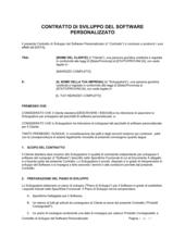 Contratto di sviluppo del software personalizzato