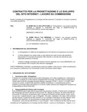 Contratto per la  progettazione del sito internet