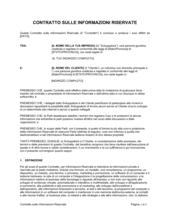 Contratto sulle informazioni riservate