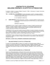 Contratto di locazione migliorie proprieta' in affitto e attrezzature