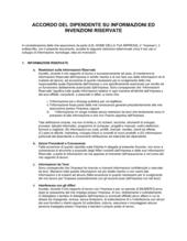 Accordo dipendente info confidenziali