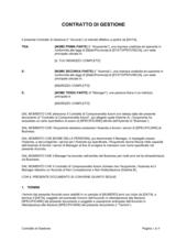 Contratto di gestione