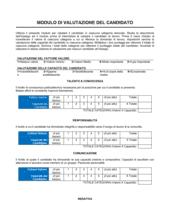 Modulo di valutazione del candidato