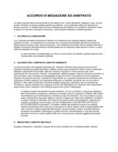 Accordo di mediazione ed arbitrato
