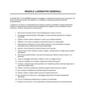 Regole lavorative generali
