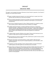 Checklist Analisi del trend