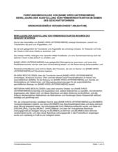 Vorstandsbeschluss Bewilligung der Ausstellung von Firmenkreditkarten