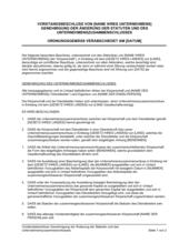 Vorstandsbeschluss Genehmigung der Änderung der Statuten und