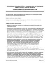 Verordnung für Bankgeschäfte