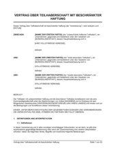 Vertrag über Teilhaberschaft mit beschränkter Haftung