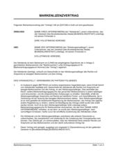 Markenlizenzvertrag Kurzform