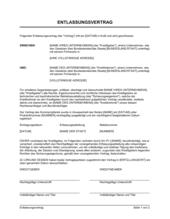Entlassungsvertrag