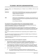 Tilgungs- und Entlassungsvertrag